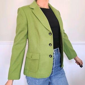 😍Vintage wool and cashmere green blazer